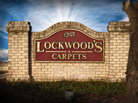 Lockwood's Carpets Sign